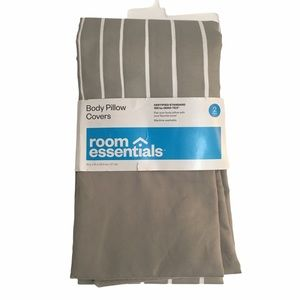 Room Essentials 2 body pillow covers. New